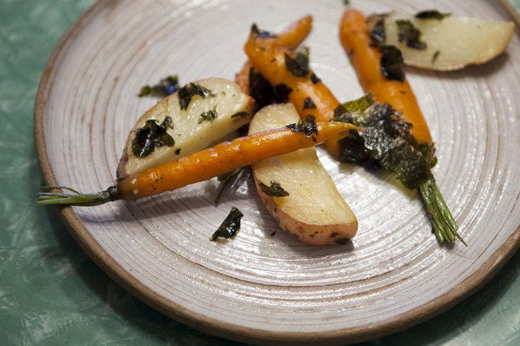 Seaweed Roasted Root Vegetables